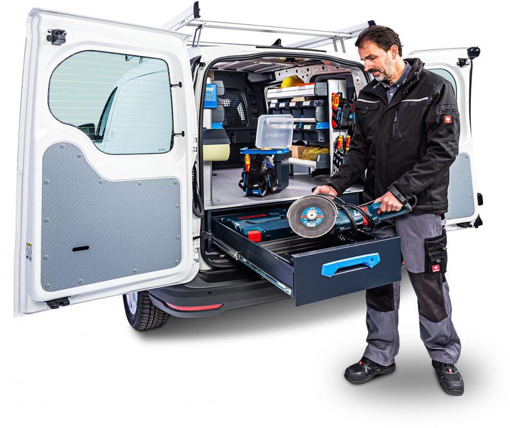 VW Caddy Maxi mit Großraumschublade Jumbo-Unit und Fahrzeugeinrichtung SR5