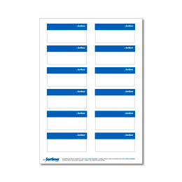 Adhesive labels, blue, for BOXXes/cases/clips 12 in number (1 sheet)