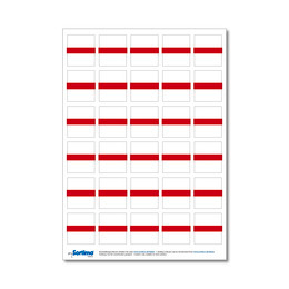 Labelling sticker inset red 1 sheet